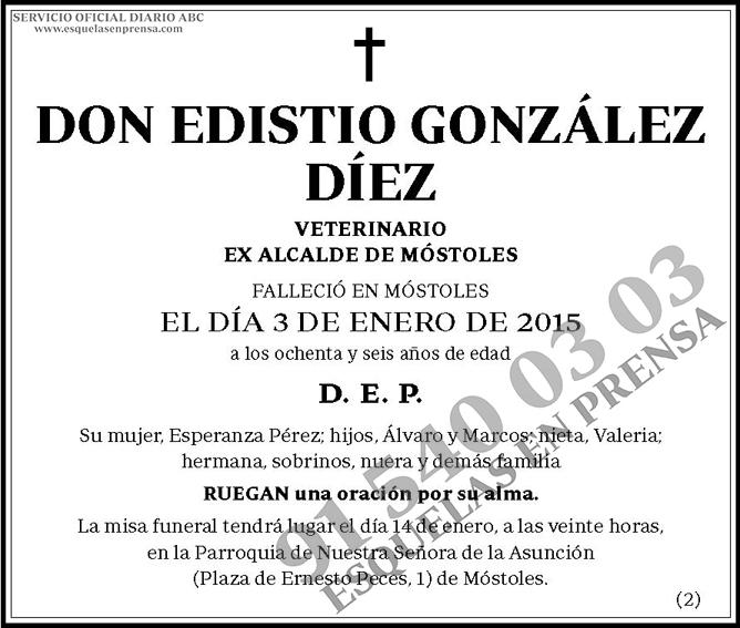 Edistio González Díez